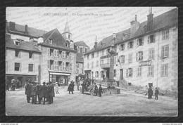 3. Chaudesaigues [Chaudes-Aigues] – Un Coin De La Place Du Gravier. Animée. - Sonstige Gemeinden