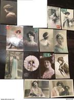 13 Cpa, Editions PhR Ou Rph,Femmes, Fantaisies, écrites - Donne