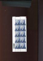 Belgie 2007 Nr 3697 Tarief 3 (33.00€) Volledig Vel Plaatnummer 9 MNH Onder Faciaal Tanding Doorlopend Onderaan - Kleinbögen