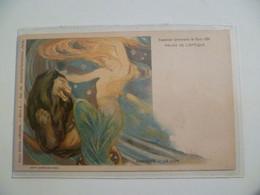 Carte Postale Ancienne / Signe Du Zodiaque LION Exposition Universelle De Paris 1900 - Astrologie