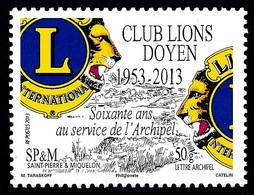 ST-PIERRE ET MIQUELON 2013 - Yv. 1088 **   Faciale= 0,95 EUR - Club Lions Doyen De SPM  ..Réf.SPM12561 - Neufs
