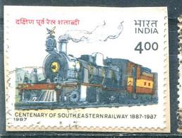 Inde 1986 - YT 906 (o) Sur Fragment - Train - Usati