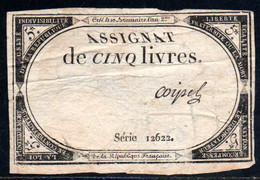 538-Assignat De 5 Livres De L'An 2 Coipel - Assegnati
