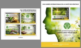 CENTRAL AFRICA 2020 MNH International Year Of Plant Health Pflanzengesundheit M/S+S/S - OFFICIAL ISSUE - DHQ2048 - Sonstige