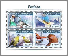 MOZAMBIQUE 2018 MNH Pigeons Doves Tauben M/S - OFFICIAL ISSUE - DHQ2048 - Columbiformes