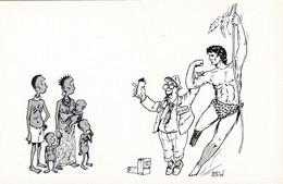 MILLION Georges  - Dessin Presse Faim Monde Anti Publicité Anti Nestle Tarzan - CPM 10,5x15 TBE 1985 Neuve - Andere Illustrators