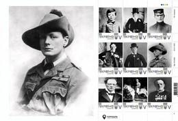 Ukraine 2020, England History, Young Winston Churchill, Sheetlet Of 9v - Oekraïne