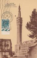 291 SEUL SUR CARTE - OBLIT. TEMPORAIRE FOIRE DE LILLE 4.35 + VIGNETTE - 1961-....