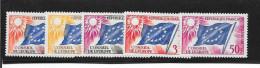 SERIE SERVICE N° 17 A 21   FRANCE -  Drapeau - 1958 : 1959 - Mint/Hinged