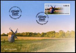 ESTONIA (2020) - ATM First Day Cover Visit Estonia, Kukka Windmill, Windmühle, Molino Viento, Tuulik, Moulin, Hiiumaa - Estonia