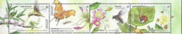 URUGUAY , 2019, MNH,  SPRING 2019, BIRDS, HUMMING BIRDS, INSECTS, BEES, BUTTERFLIES, LADYBUGS, 4v - Colibrì