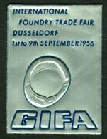 "Düsseldorf 1956 "" GIFA International Foundry Fair "" Vignette Cinderella Reklamemarke - Cinderellas"