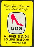 """Düsseldorf 1958 """" GDS Große Deutsche Schuh-Mustermesse """" Vignette Cinderella Reklamemarke - Cinderellas"""