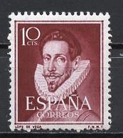 Espagne - Spain - Spanien 1951 Y&T N°822 - Michel N°995 *** - 10c F Lope DeVéga - 1951-60 Ungebraucht