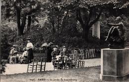 Thematiques 75 Paris 6 Eme Arrondissement Jardin Du Luxembourg Daté Main1909 - Parks, Gärten