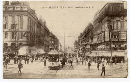 Cpa, 21 - MARSEILLE. Rue Cannebière - L.P.  /721 - Other