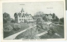 Horw (bei Luzern); Waldhaus Oberrüti (Kurhaus & Dependance) - Nicht Gelaufen. (C.J. Bucher - Luzern) - LU Lucerne