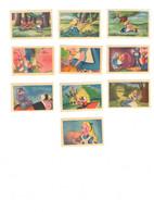 Lot De 10 Vignettes Images Publicitaire Le Chocolat Tobler Alice Au Pays Des Merveilles Walt Disney Pour Album Tobler - Reclame