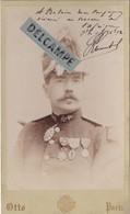 OFFICIER DE MARINE- Armée D'Afrique Commandeur De L'Ordre De NICHAM IFTIKHAR...Képi Avec Plumet Photo Format CABINET1892 - War, Military