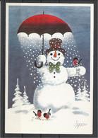 Finland, Humorous Snowman, 1991. - Finlande