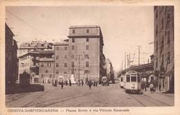 "011801 ""GENOVA SAMPIERDARENA""  ANIMATA, TRAMWAY NR 77 AUTO. CART NON SPED - Genova"