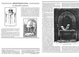 """ PRESTIDIGITATION-MAGIE - ILLUSION  ""  ( LE DECAPITE PARLANT  ) Par Le PREDTIDIGITATEUR  "" ALBER ""    1935 - Unclassified"
