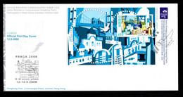 Hong Kong 2008 Stamp Sheetlet PRAGA Prague Stamp Philatelic Exhibition FDC - Covers & Documents