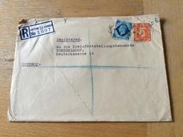 K13 Großbritannien 1951 R-Cover From Sutton To Düsseldorf - Briefe U. Dokumente