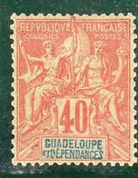 GUADELOUPE :TIMBRE DE 1892  N°36*  Rouge Orange  40C - Nuovi