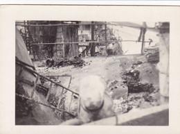 PHOTO ORIGINALE 39 / 45 WW2 MARINE FRANCAISE BATAILLE DE DAKAR 1940 LES RESTES DE L AUDACIEUSE - Krieg, Militär