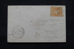 FRANCE - Enveloppe De Sorèze Pour Leipzig ( Allemagne ) En 1872, Affranchissement Napoléon 40ct, GC 3438 - L 81069 - 1849-1876: Classic Period
