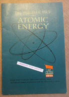 """Expo Brussel 1958 URSS """"The Peaceful Uses Of Atomic Energy"""" - Colecciones"""