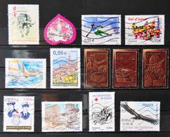 France 2009 - 13 Timbres N° 4325-4328-4331-4333-43334-4337-4365-4366-4359-4424-4371-4389-4375 - Usados