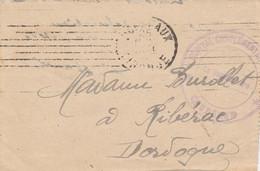 HOPITAL COMPLEMENTAIRE CAUDERAN (Gironde) Avec Longue Correspondance - Guerra De 1914-18