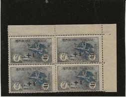 TIMBRE N° 169  BLOC DE 4 NEUF CHARNIERE SUR LE MILIEU - COIN DE FEUILLE -ANNEE 1922 - COTE : 680 € - Ohne Zuordnung