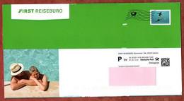 Dialogpost, Komplettes Faltblatt, First Reisebuero, DV 01.20, 30 C, Schwimmer, Frankierwelle (1237) - Machine Stamps (ATM)