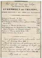 TONGERLO (Abdij) / BRUSSEL / MECHELEN  (Abdij Van LELIENDAAL) / TILBURG (Heike) - E.H. Evermodus Du CHAMPS °1748 +1832 - Andachtsbilder