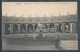 CPA 03 - Moulins, La Gare PLM - La Rotonde Des Machines - Moulins