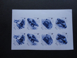 Russia 2004 PROOF WWF Wolverine  Color Trial RRR - Unused Stamps