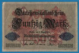 DEUTSCHES REICH 50 Mark 05.08.1914 Série C # 4002775   P# 49b DARLEHENSKASSENSCHEIN - 50 Mark