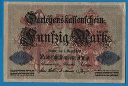 DEUTSCHES REICH 50 Mark 05.08.1914 Série C # 4094033  P# 49b DARLEHENSKASSENSCHEIN - 50 Mark