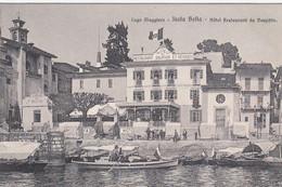 ISOLA BELLA-VERBANO CUSIO OSSOLA-HOTEL RESTAURANT=DU DAUPHIN-CARTOLINA NON VIAGGIATA 1910-1920 - Verbania