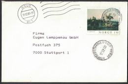 IW98   Norway 1980 - Nice Cover To Germany Paintings 1,80K Solo - Brieven En Documenten
