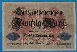 DEUTSCHES REICH 50 Mark 05.08.1914 Série Y # 4273982 P# 49b DARLEHENSKASSENSCHEIN - 50 Mark
