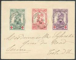 N°126/128 - SérieMERODEobl. ScLE HAVRE (SPECIAL)sur Lettre Du 28-12-1914 Vers Seurre (Fr.). -Superbe- 16705 - 1914-1915 Rotes Kreuz