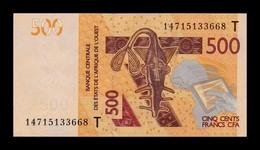 West African St. Togo 500 Francs CFA 2014 Pick 819Tc SC UNC - Togo