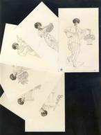 Serie Complète De 6 CPA Illustrées: Femmes (Ed. NPG Num. 3871) (Ref.119218) - Unclassified