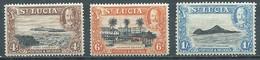 Sainte-Lucie YT N°99-100-101 Roi George V Et Vues Neuf/charnière * - St.Lucia (...-1978)