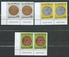 Maroc - 1977 - Série Yvert N° 797 à 799 ** Par 2 Avec Les Bords De Feuille Millesimés-   Pa 20601 - Marokko (1956-...)