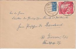 BRD - 20 Pfg. Bundestag Einzelfrankatur Brief Limburg - Giessen 1949 - Cartas
